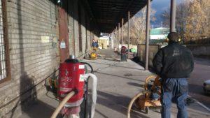 Примеры работ по ремонту бетонного пола 31