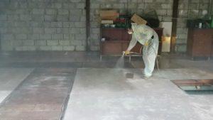 Обеспыливание бетонного пола 4