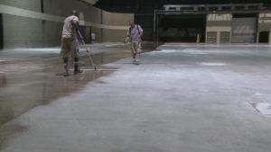 Обеспыливание бетонного пола 3