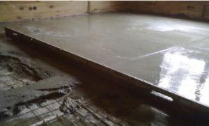 Выравнивание бетонного пола 1